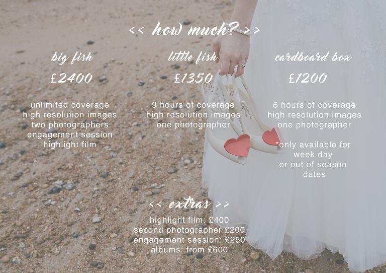 Wedding Photographer prices