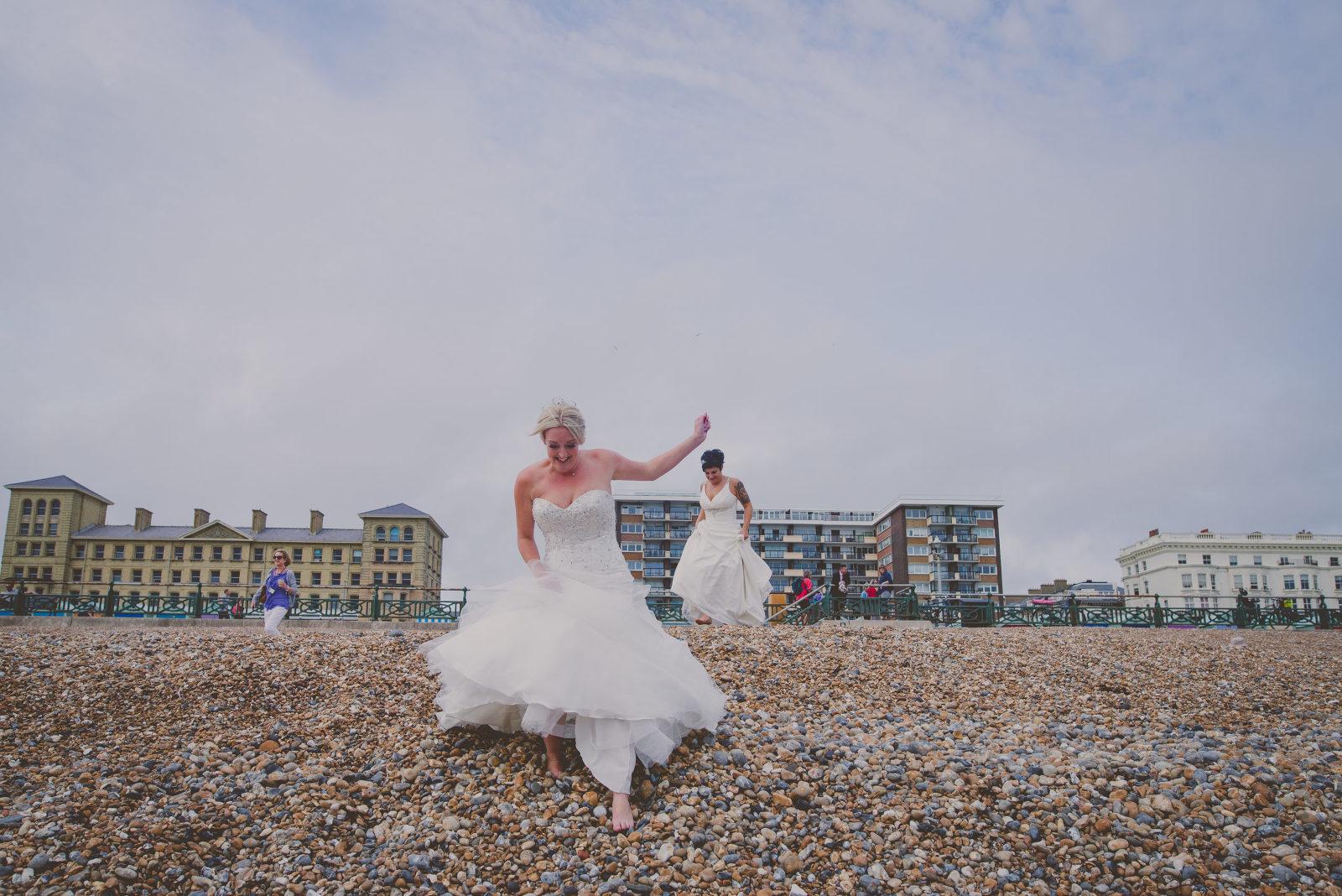 brighton beach same sex wedding